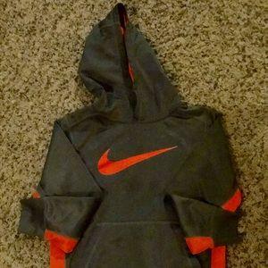 Nike Grey/Orange Hoodie.